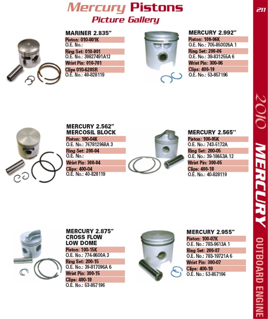 mercury piston 211