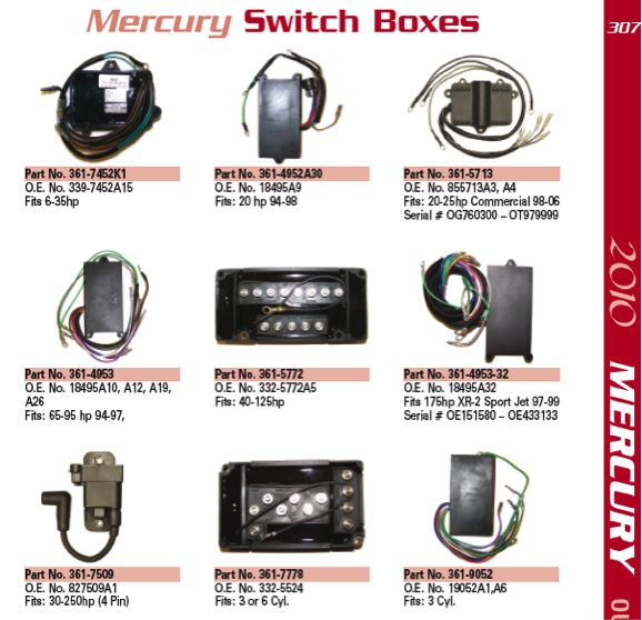 mercury switch box 307